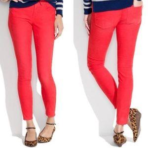 Madewell red corduroy pants size 26